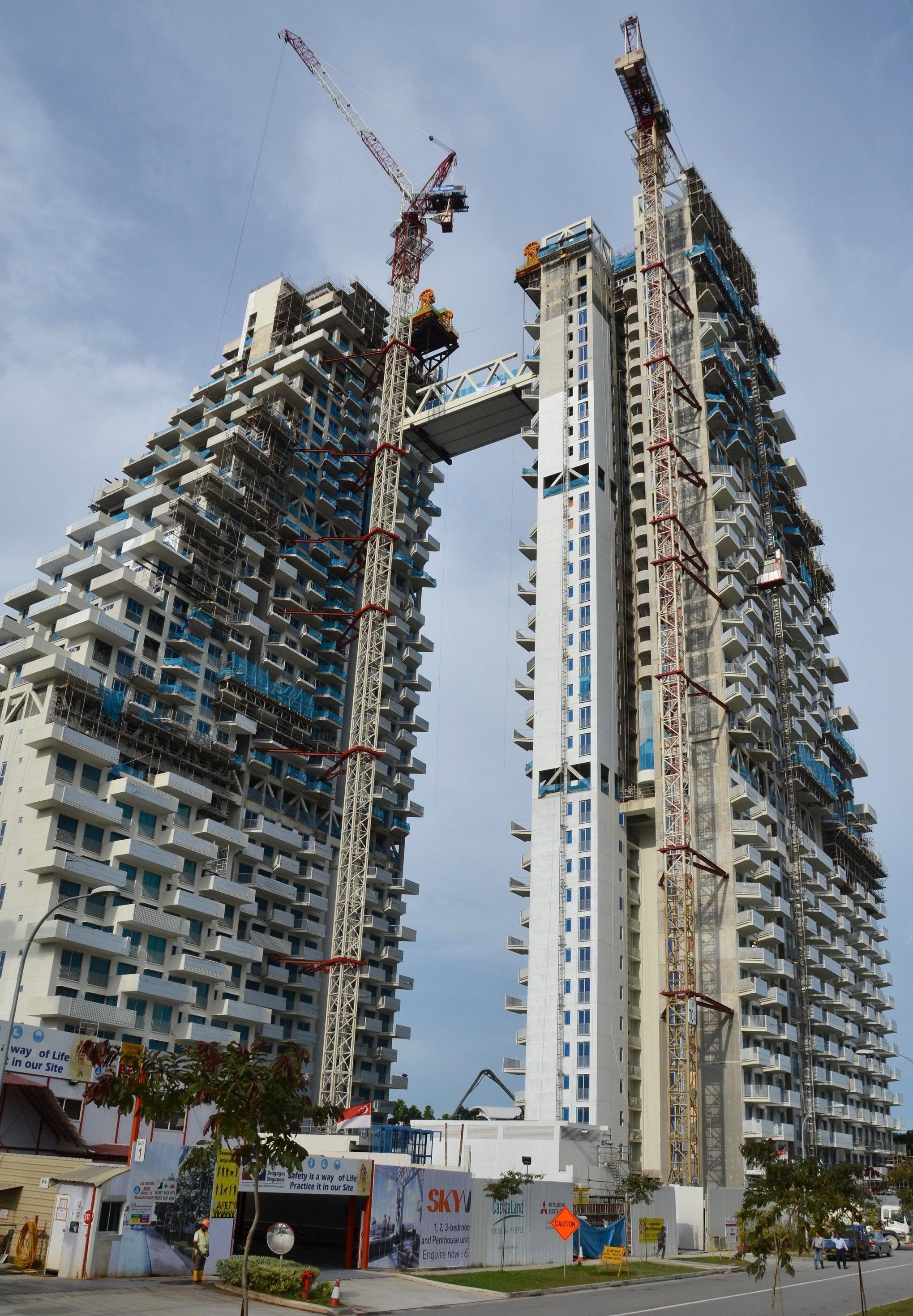 Bishan sky habitat singapore utracon corporation for Construction habitat
