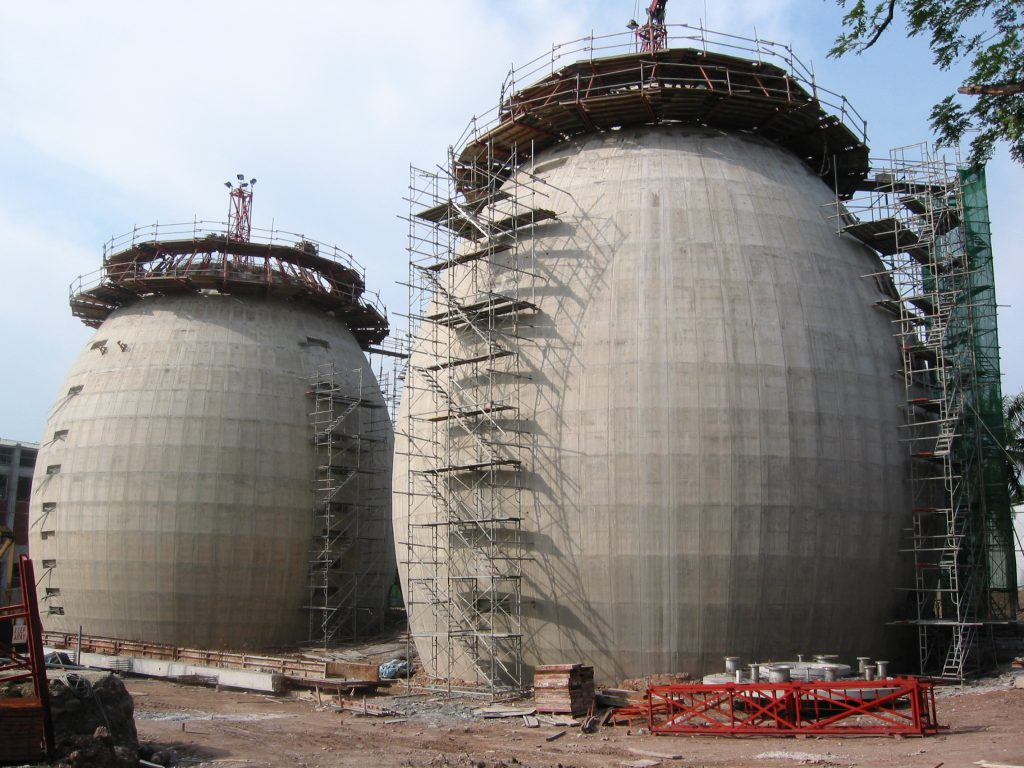 Jurong Water Reclaimation Works - Egg Shaped Digester